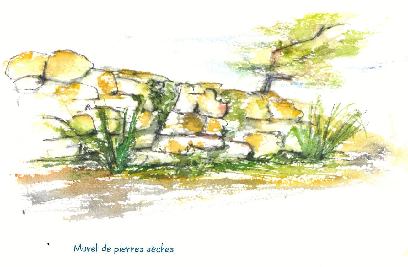 muret de pierre sèches